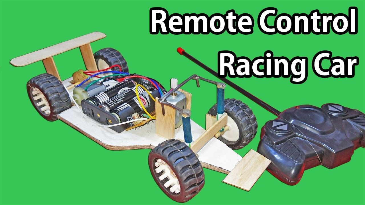 how to make a simple f1 rc car remote controlled car at home [ 1280 x 720 Pixel ]