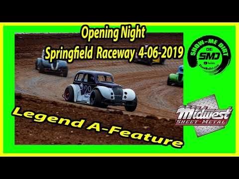 S03 E176 Legend A-Feature -Opening Night Springfield Raceway 4-06-2019 #DirtTrackRacing