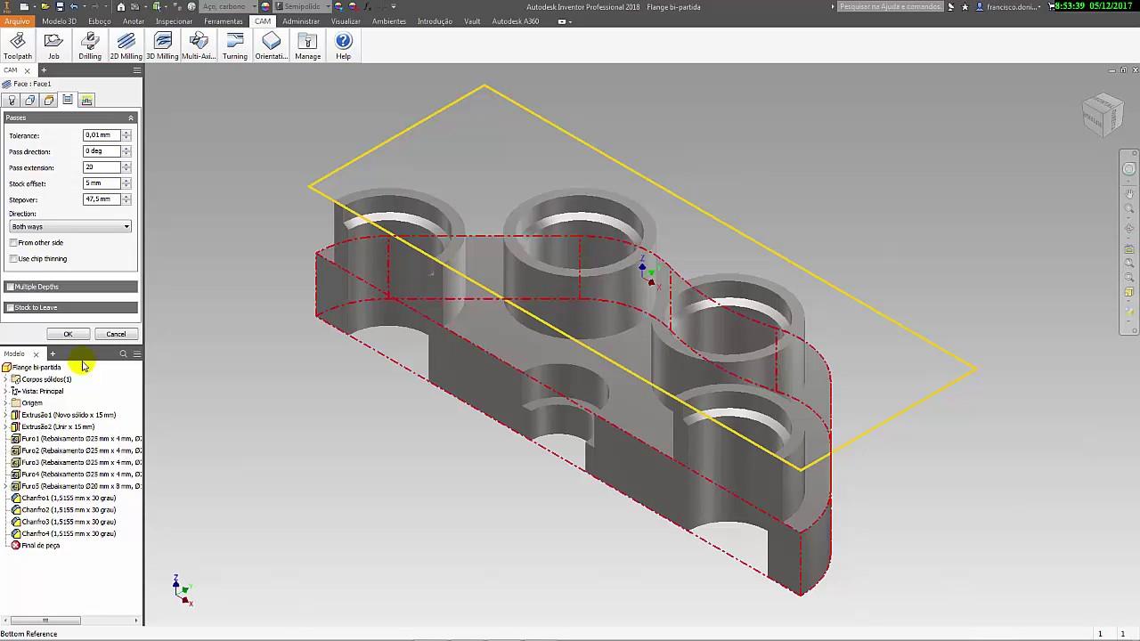 Autodesk Inventor HSM 2018 CAD/ CAM Tutorial