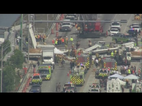 Rescue Underway At Miami Bridge Collapse