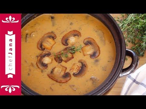 Vegan creamy Hungarian mushroom soup⎜easy, simple ingredients