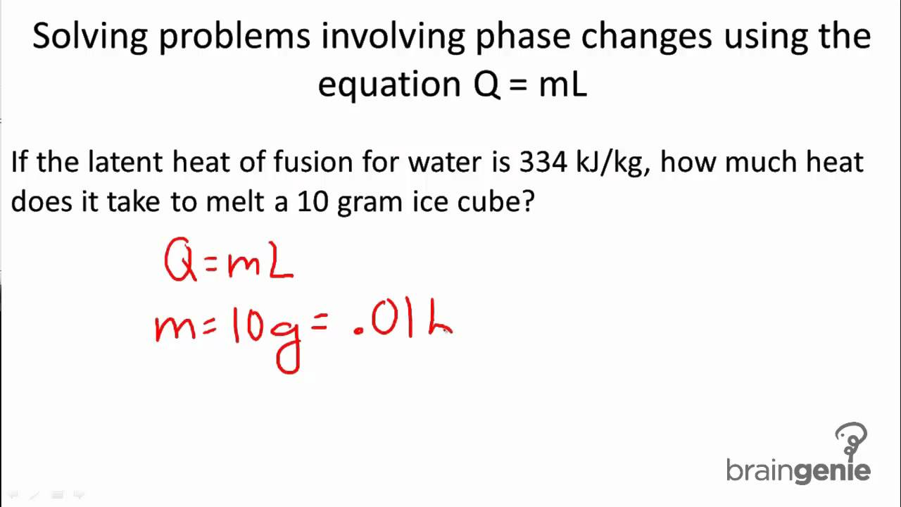 Physics 5.1.4.1 Solving problems involving phase changes ...