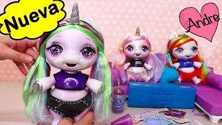 andre jugando con mueca unicornio que hace slime muecas y juguetes poopsie para nias y nios