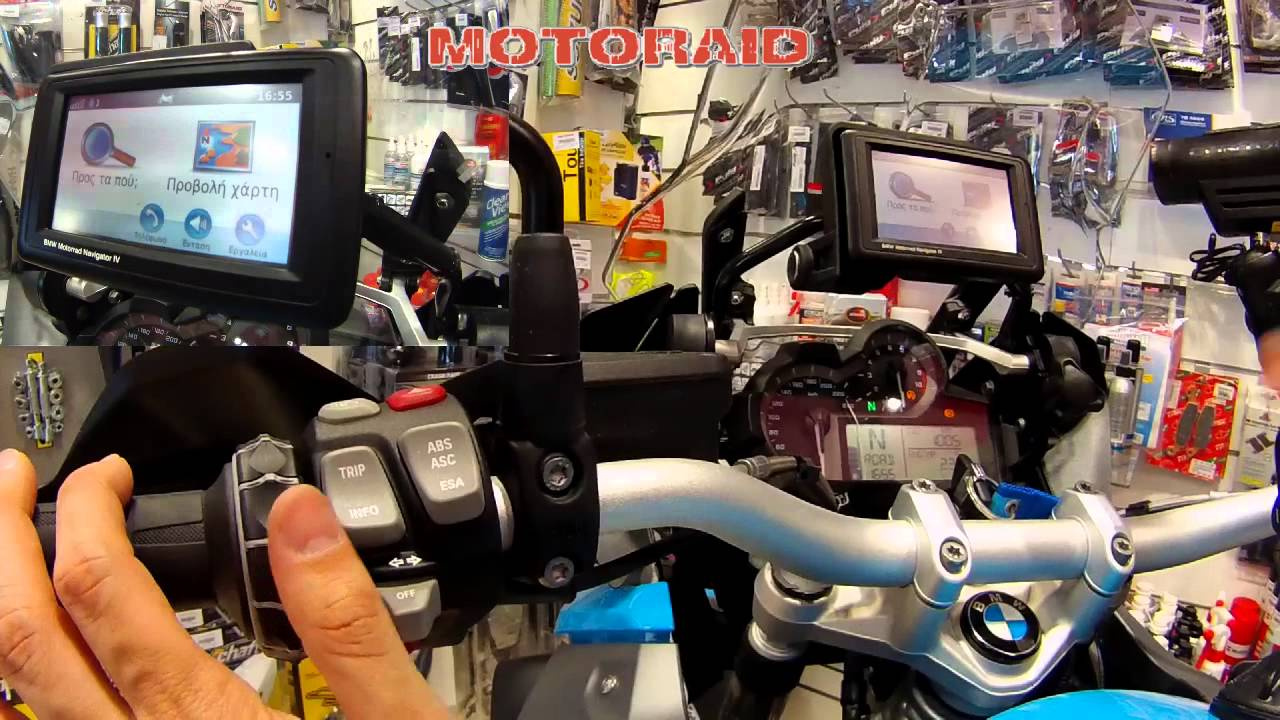 bmw motorrad navigator iv on bmw r 1200 gs lc 2013 review by motoraid greek youtube. Black Bedroom Furniture Sets. Home Design Ideas