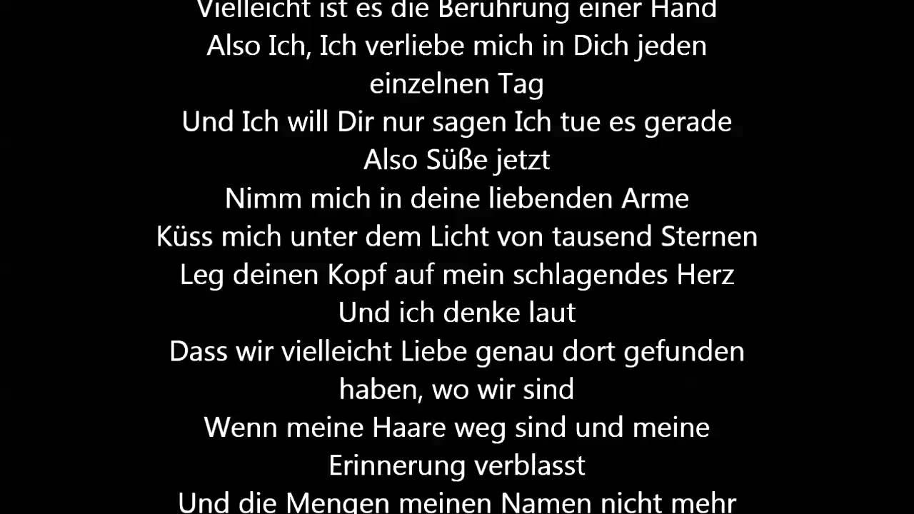 Ed Sheeran   Thinking Out Loud [Deutsche Übersetzung / German ...