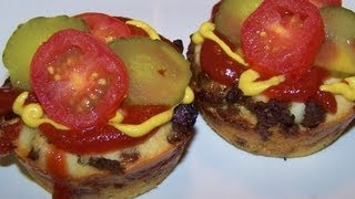 Mini Bacon Cheeseburger Impossible Pies - Gluten Free