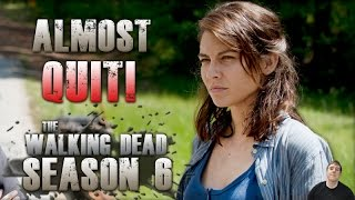 the walking dead season 6 maggie reveals she almost quit after lori s c section