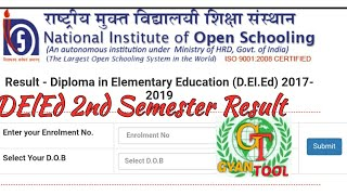 NIOS Dled 2nd Semester 2018 Results|National Institute of Open Schooling|Diploma|Download results|