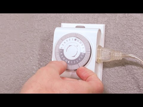 Programming Your Mechanical Timer You, Outdoor Timer For Lights Instructions