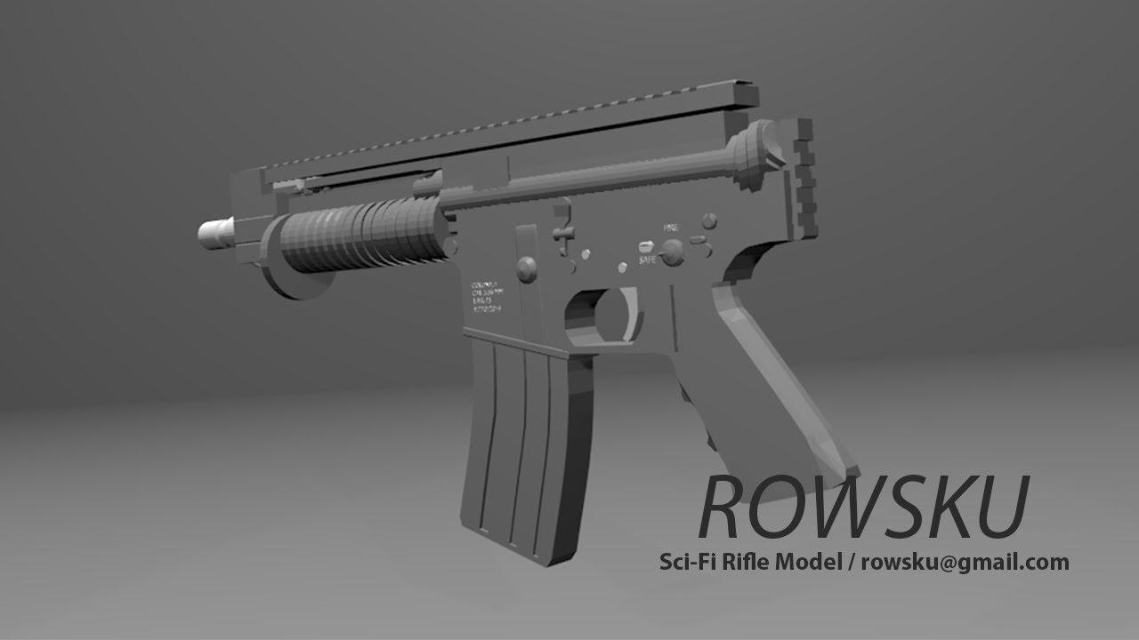 Blender 3D - Automatic Pistol Speed Modeling. - YouTube