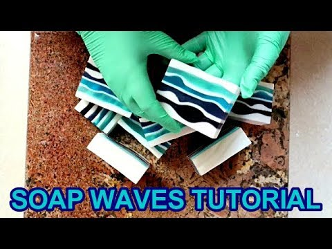 HOW TO MAKE WAVES IN MELT & POUR SOAP TUTORIAL thumbnail