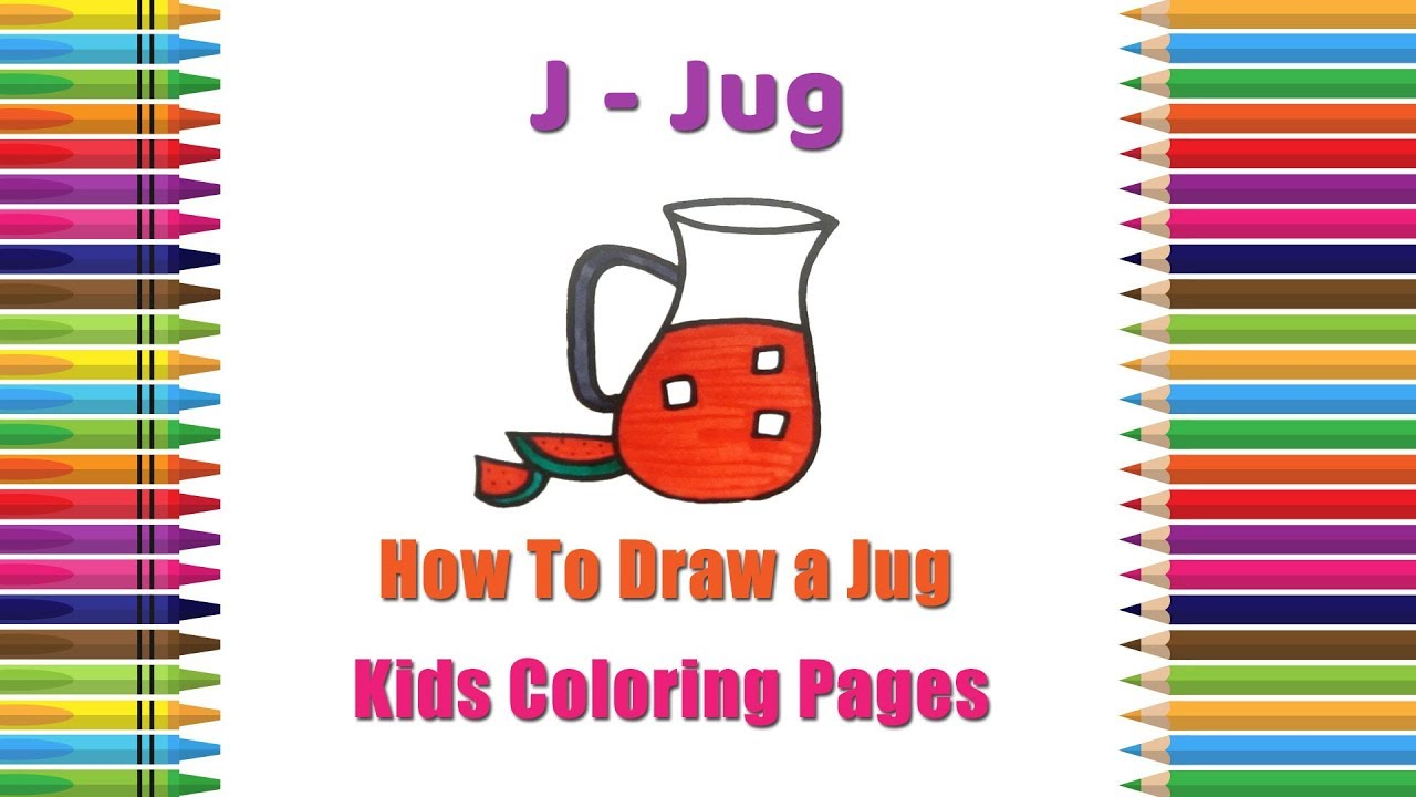 How To Draw A Jug Coloring Pages