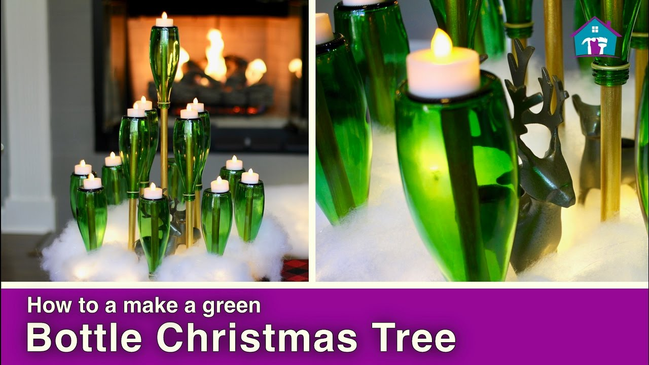 how to make a diy bottle christmas tree - How To Make A Wine Bottle Christmas Tree