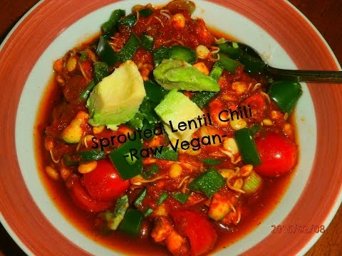 Sprouted Lentil Chili
