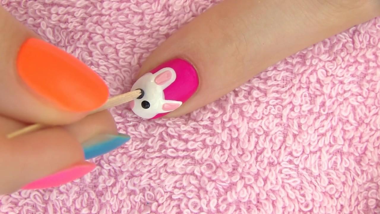 Diseño de Uñas decoradas con un dulce ratoncito