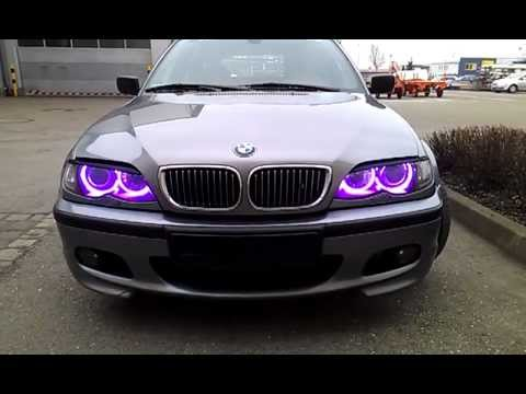 bmw e46 multicolor angel eyes youtube. Black Bedroom Furniture Sets. Home Design Ideas
