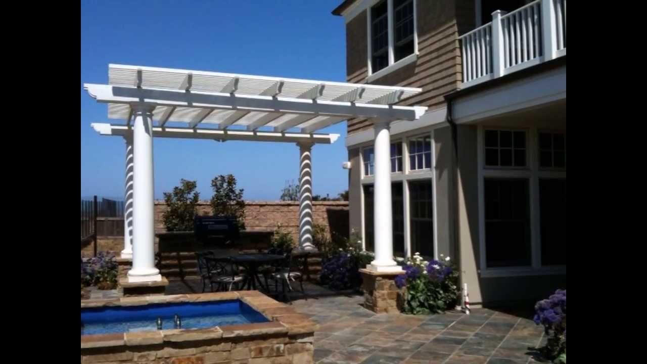 Freestanding patio cover designs orange county ca youtube for Freestanding patio cover