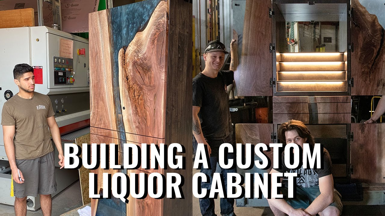 Building a Walnut and Epoxy Liquor Cabinet