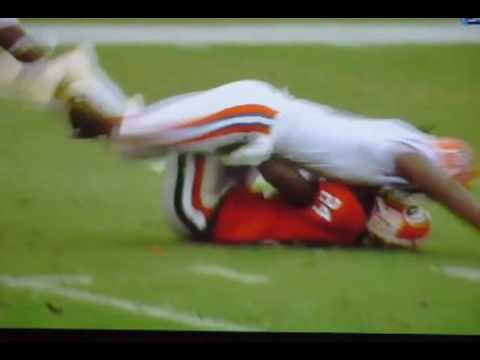 Brandon Spikes Nails Knowshon Moreno