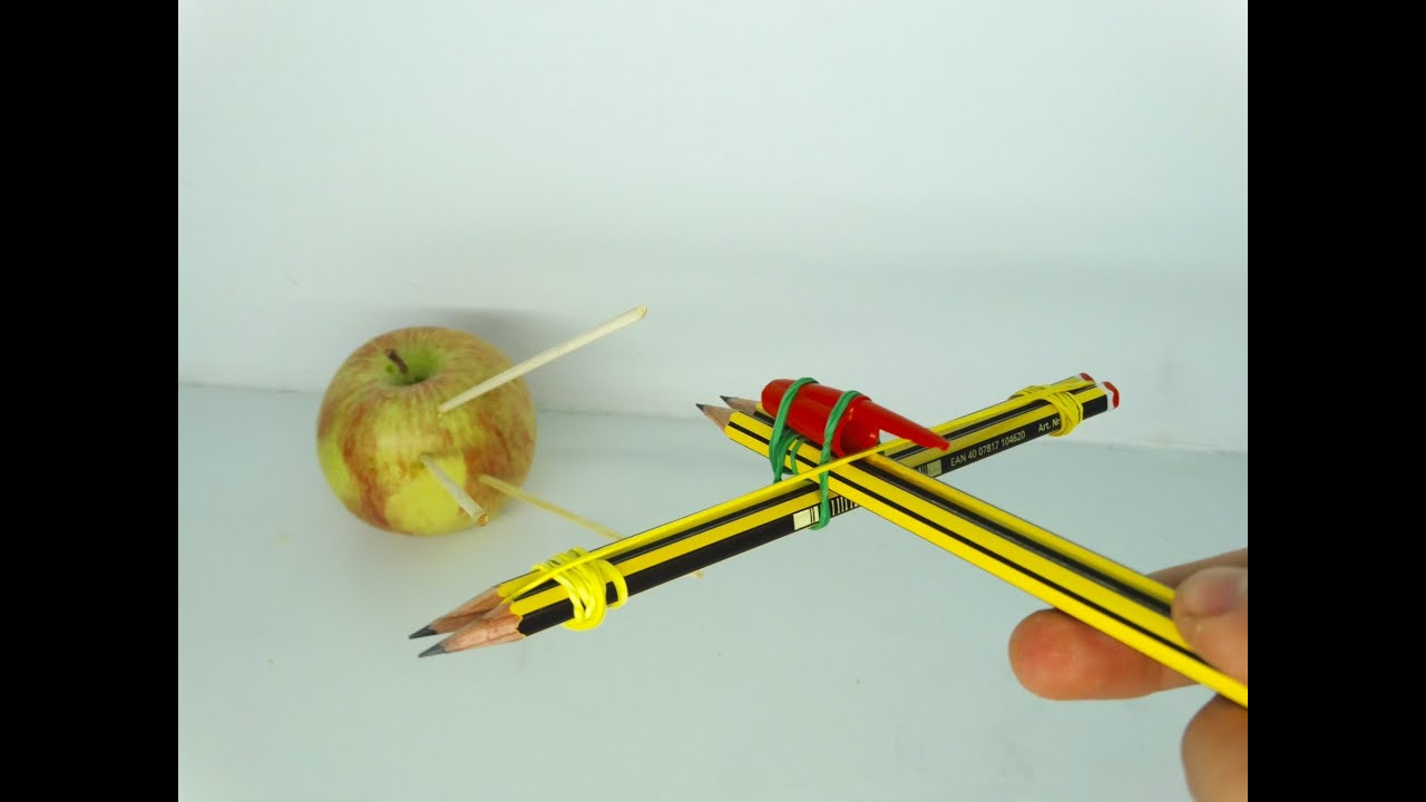 How to make a crossbow at home. We make a mini-crossbow, crossbow of pencils and paper from their own hands 1