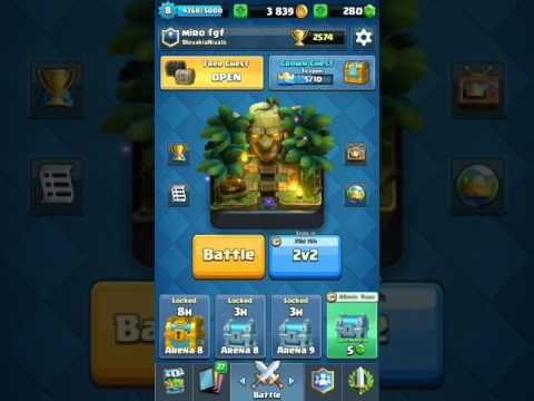 Clash royal miti #2 cz sk aréna 9 a crown chest