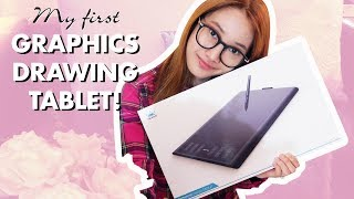 UNBOXING HUION NEW 1060 PLUS GRAPHICS DRAWING TABLET | FIRST IMPRESSIONS