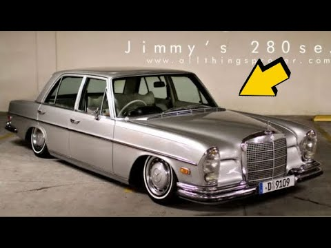 MERCEDES 280 SEL 4.5  AİR SÜSPANSİYON MONTAJI modifiye