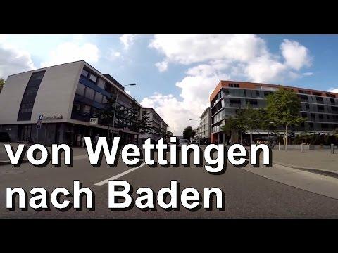 Autofahrt von Wettingen nach Baden