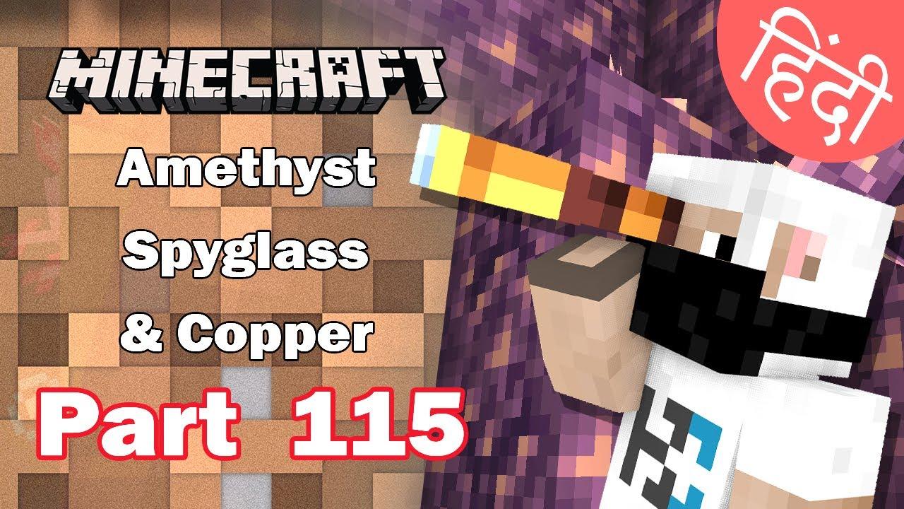 Part 115 - Amethyst, Spyglass, Copper + Exploring - Minecraft Bedrock | in Hindi | BlackClue Gaming