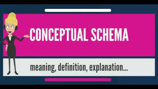 What is CONCEPTUAL SCHEMA? What does CONCEPTUAL SCHEMA mean? CONCEPTUAL SCHEMA meaning & explanation