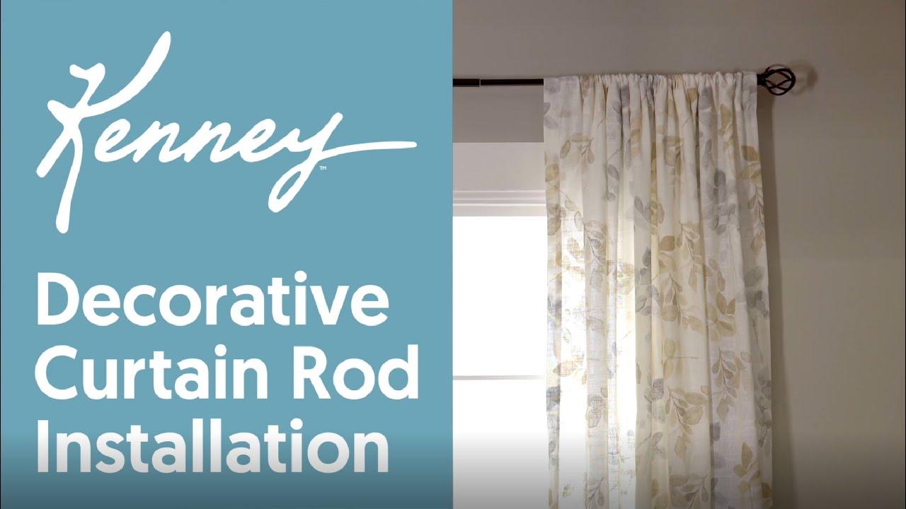 kenney decorative curtain rod installation