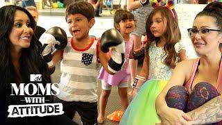 Snooki & JWoww Teach Their Kids Self Defense 🥊 | Moms with Attitude | MTV