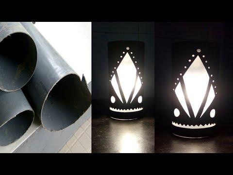 Prospek Bisnis Lampu Hias Dari Paralon Bekas || DIY PVC LAMP