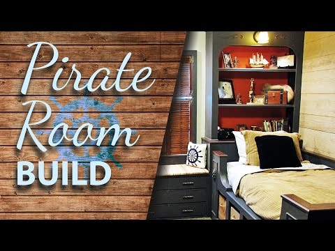 B A T C H E L O R S - W A Y : Building The Kids Pirate Room - Photo Time Lapse Process