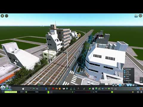 Japanese commercial street - Cities Skylines |