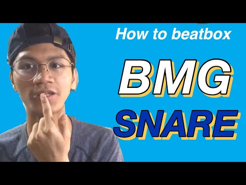 How to beatbox bmg snare / tagalog