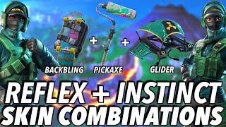 """""""REFLEX + INSTINCT"""" SKIN BEST BACKBLING + SKIN COMBOS! (Season 8) (Fortnite) (2019)"""