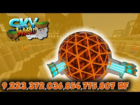 9,223,372,036,854,775,807 RF Speicher! T8 Energy Core!  - #52 - Minecraft Sky World