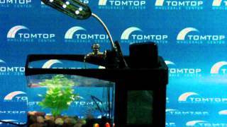 Tomtop Mini Lcd Desktop Lamp Fish Tank With Aquarium Led Clock 2