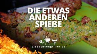 Saftige Spieße vom Entrecoté mit salsa Verde / how to make Entrecote skewers - die sachsengriller