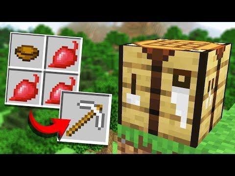 Minecraft but Every Recipe is RANDOM (Recipe Randomizer Survival #1)