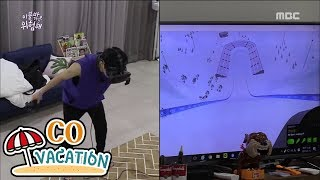 """[Co-Vacation: Xiumin & Daniel] Xiumin Found A VR Game! """"Let's play with me~♥"""" 20170904"""