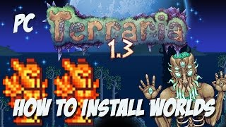 """How to Install Terraria 1.3 Maps - Terraria 1.3 PC All Item Map """"Builders Workshop"""""""