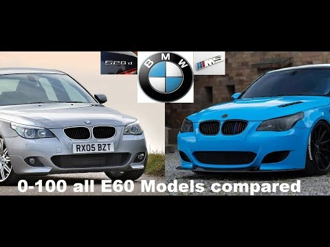 BMW E60 0-100 Acceleration (from 520d To M5)