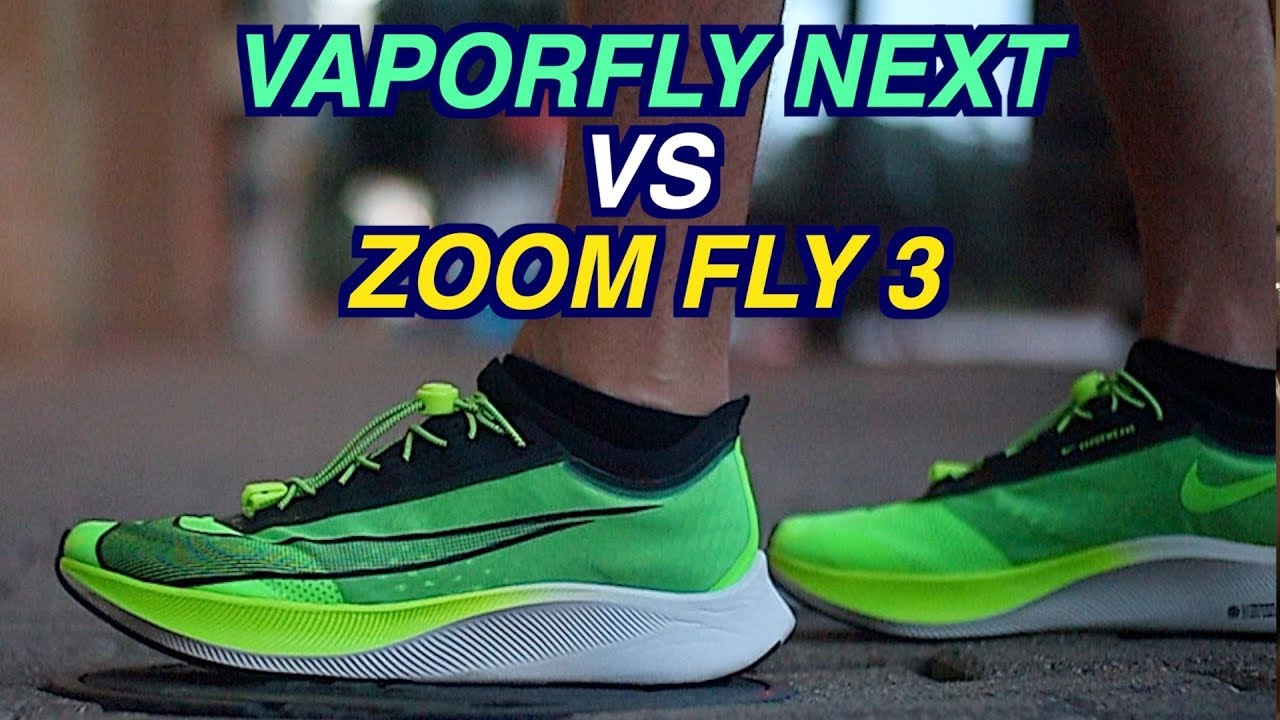 apagado Personificación Sonrisa  NIKE VAPORFLY NEXT VS ZOOM FLY 3 COMPARISON FOR RUNNERS - YouTube