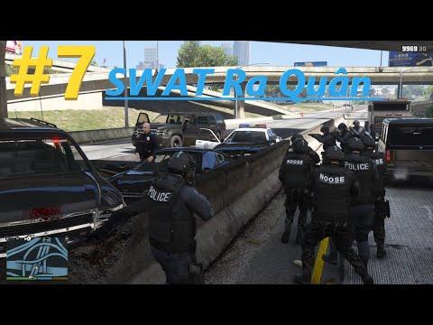 Cảnh Sát Trong GTA 5 #7 Đội Đặc Nhiệm Phi hổ Lần Đầu Ra Quân Trấn áp Tội Phạm ( SWAT MOD GTA 5 )