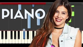 Greeicy Mas Fuerte Piano Midi tutorial Sheet app Cover Karaoke