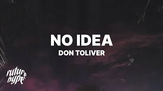 Gambar cover Don Toliver - No Idea (Lyrics)