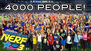 WORLDS LARGEST NERF WAR WITH OVER 4000 PEOPLE! (Jared