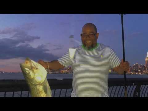 Fishing Hudson River, Hoboken NJ